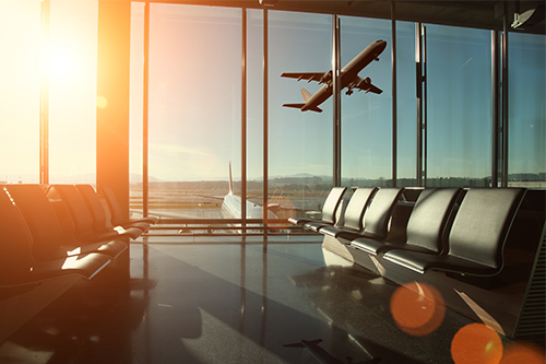 Airport interior travel